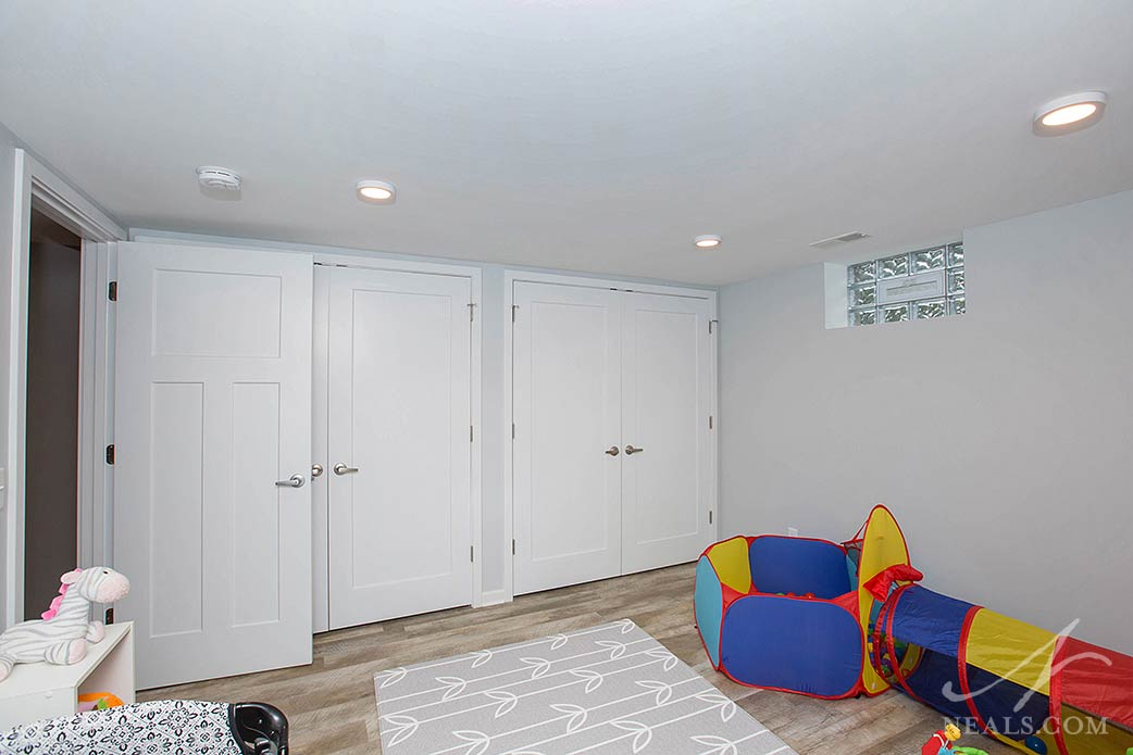 kids playroom in basement