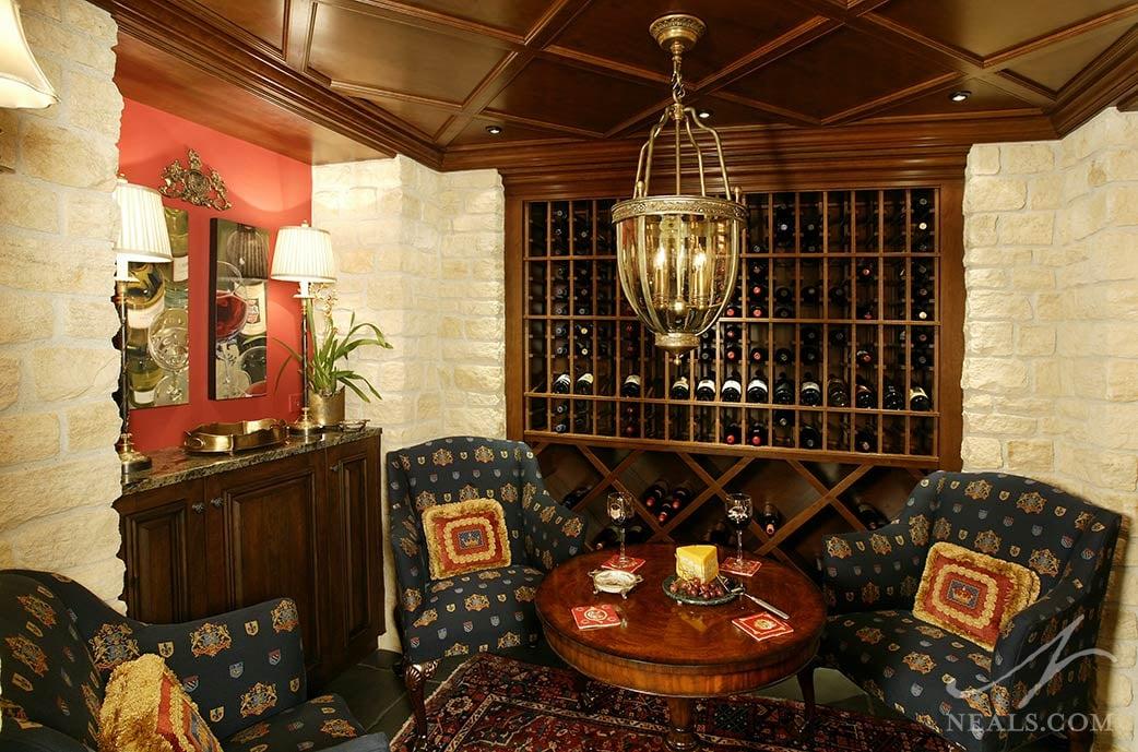 cozy wine room