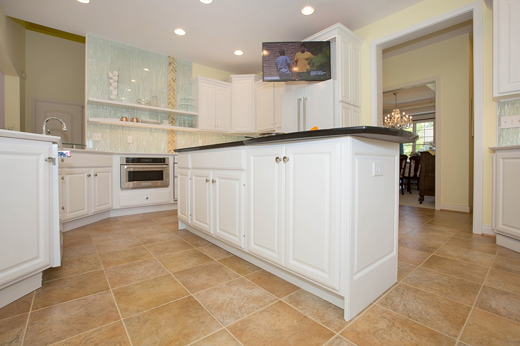 This kitchen in Cleves is an example of framed cabinet construction.
