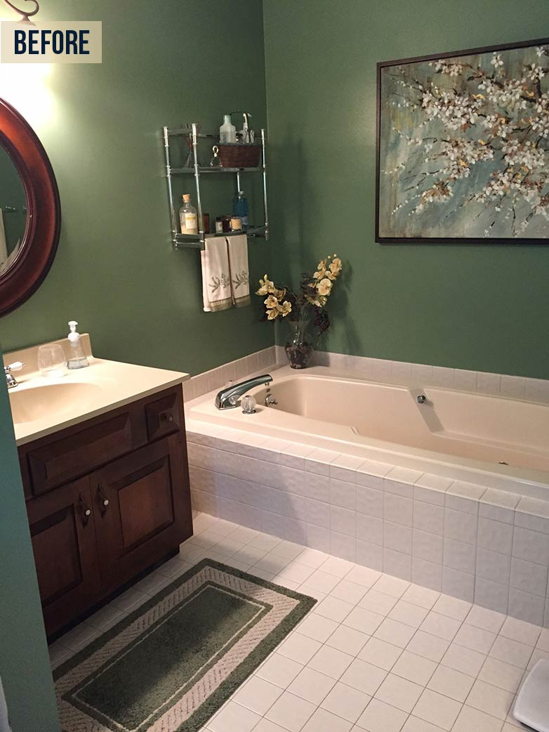chic country bathroom before