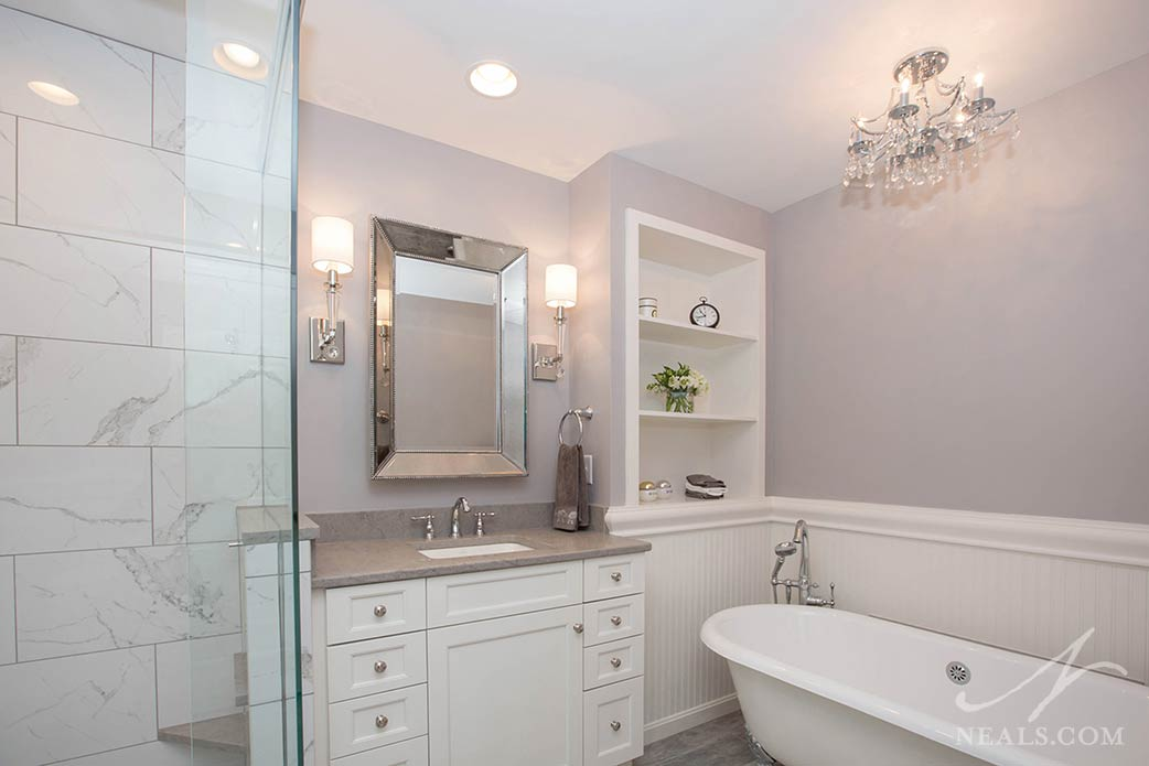 chic country bathroom after