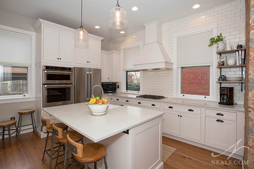 This kitchen remodel in Newport brought the classic style back to this older home.