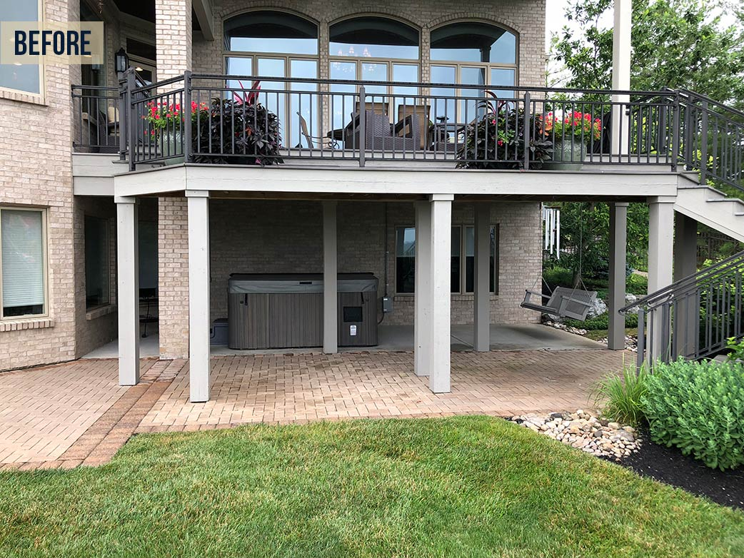 Deck and patio before