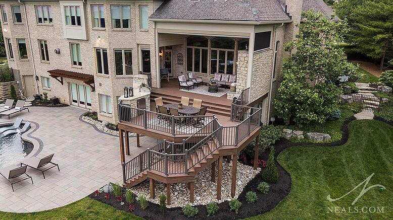 Covedale Outdoor Living project aerial view
