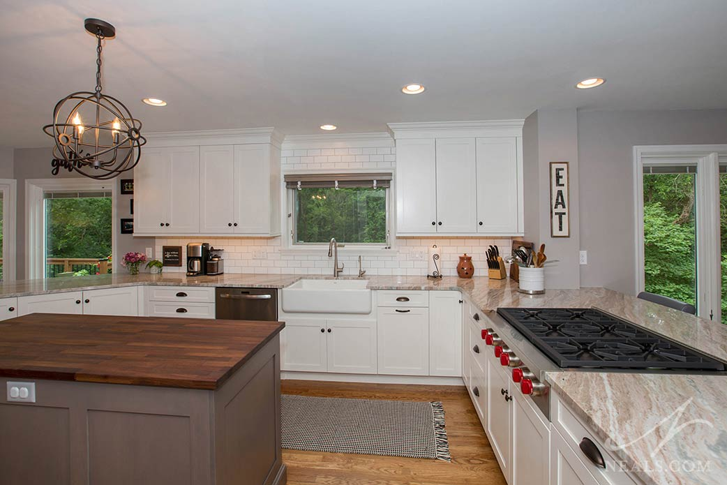 This West Chester kitchen fits the transitional style with a mix of both classic and casual elements.