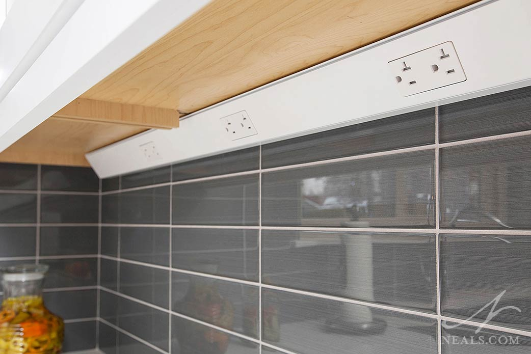 concealed outlets in the kitchen