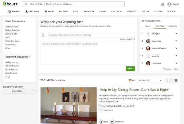 Houzz Question Page