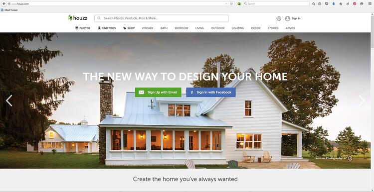 Houzz Home Page