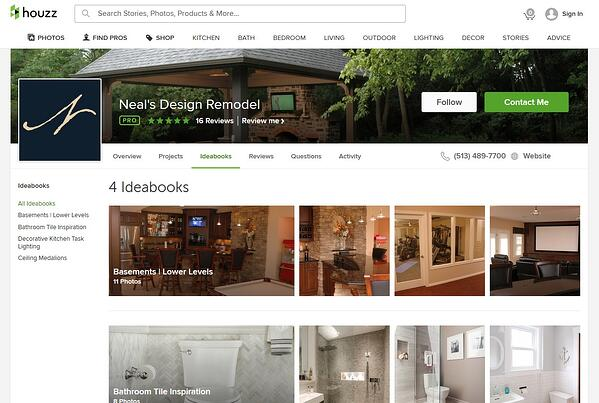 Neal's Houzz Pro Page