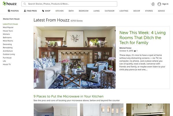 Houzz Article Page