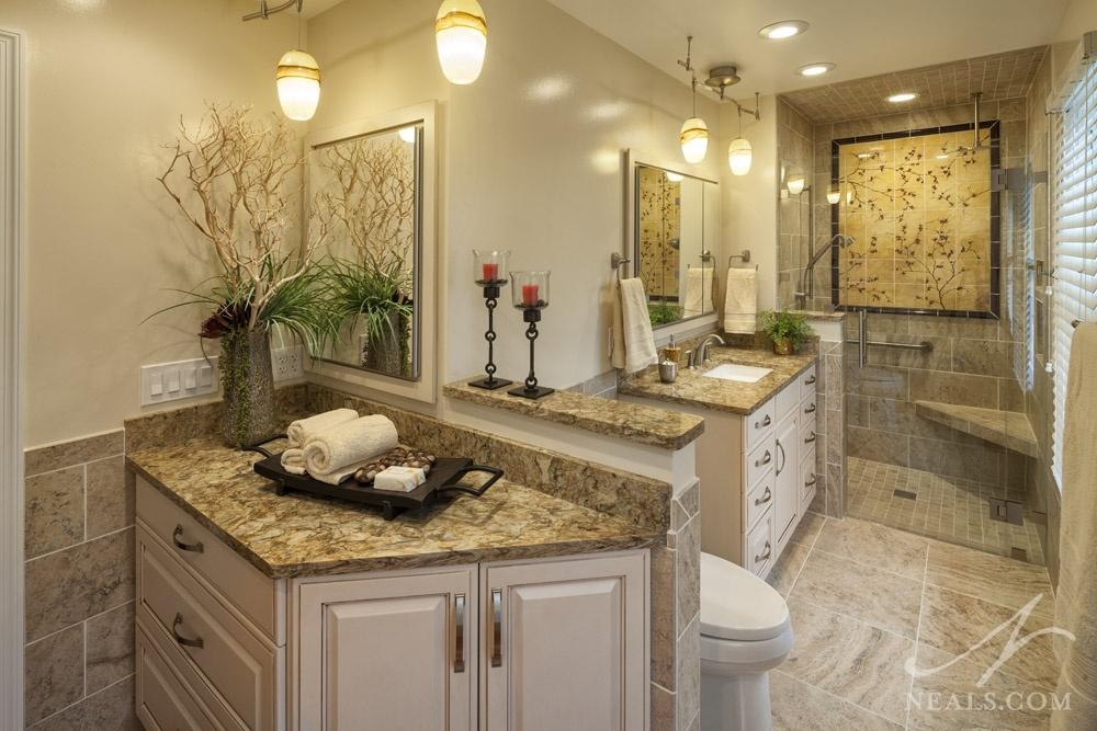 tile mosaic in the shower in Loveland bath