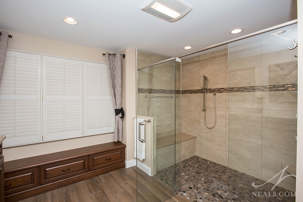 two person walk-in shower