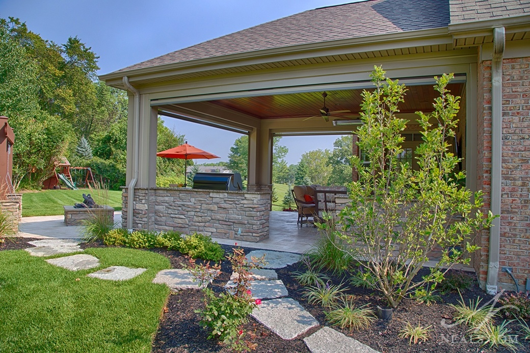 Pathway leading to an outdoor living area in White Oak
