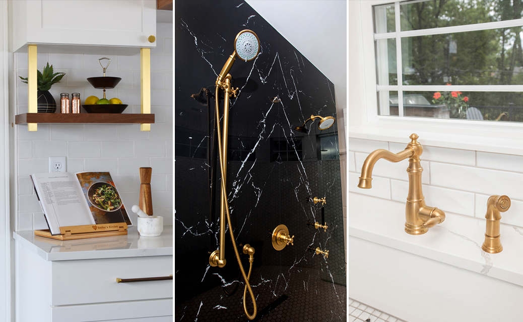 Gold Accent Hardware