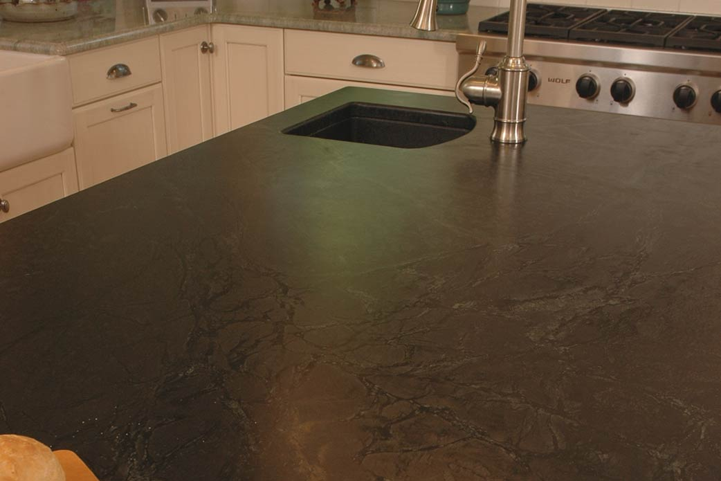 soapstone counter in kitchen