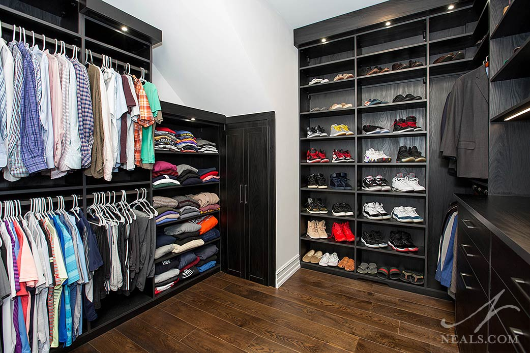 walk-in closet designed by California Closets