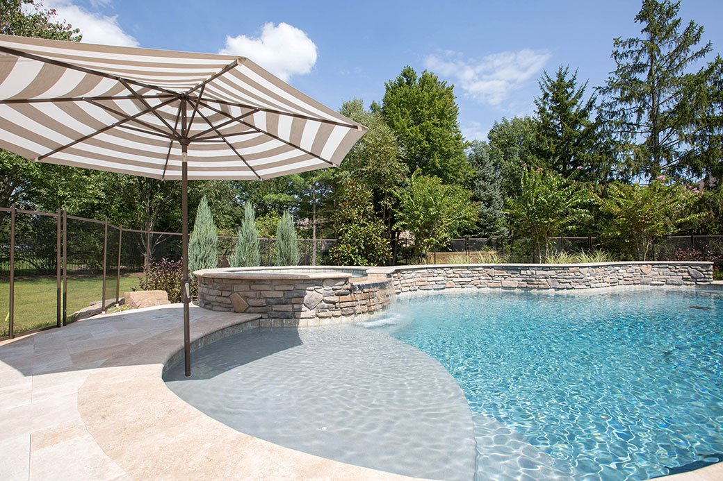curvy in-ground pool