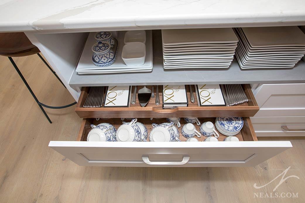kitchen storage layered drawer