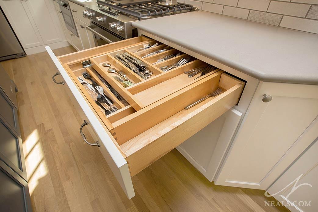 specialized kitchen cabinet interior