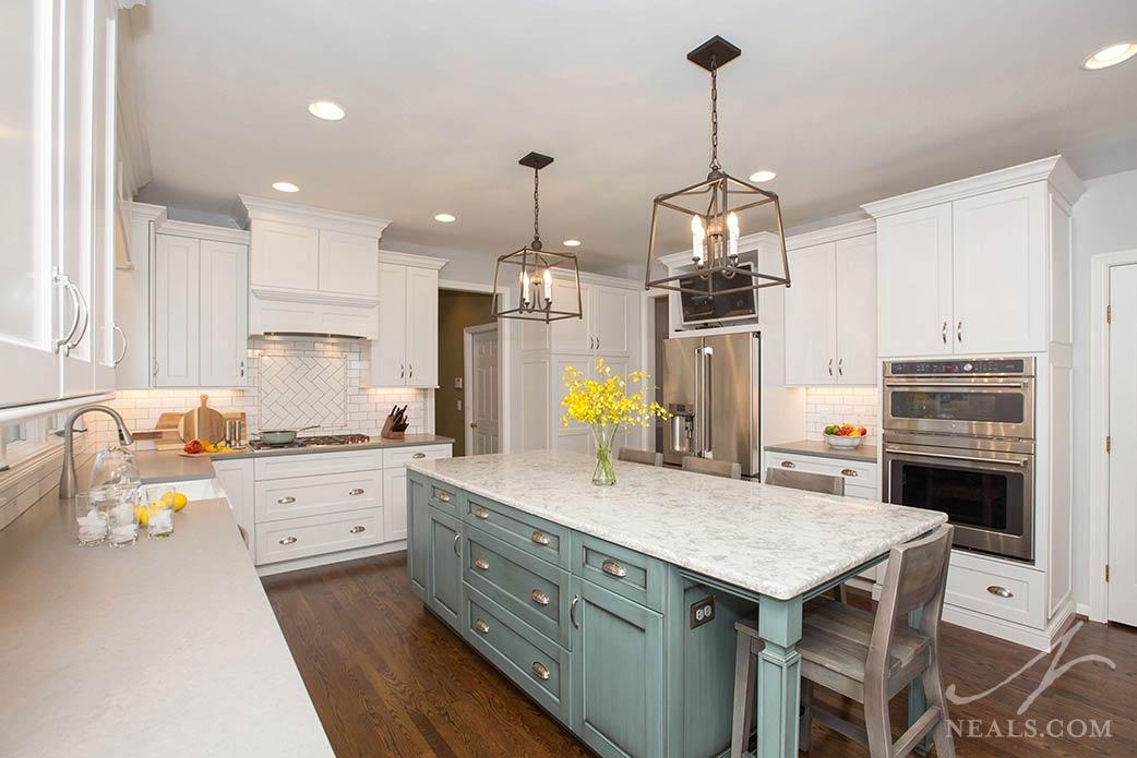 kitchen with mixture of kitchen storage options