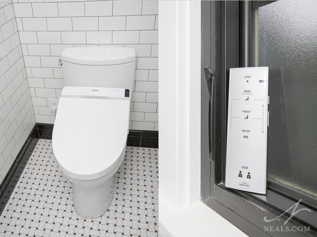 A Toto Waterlet commode in this Avondale project.